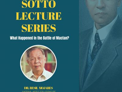 Vicente Sotto Lecture Series: Dr. Resil Mojares