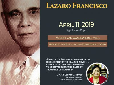 Cebu Reads Lazaro Francisco